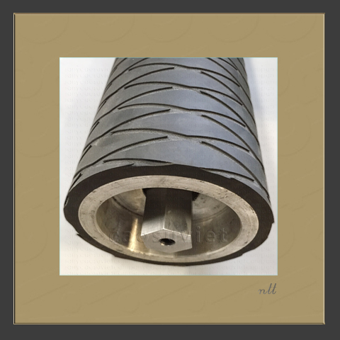 Custom grooved rubber roller for plastic film